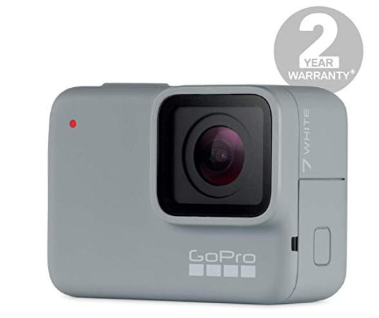 GoPro HERO7 - Cámara de acción digital sumergible con pantalla táctil, vídeo HD 1080p60 y fotos de 10 MP, blanco