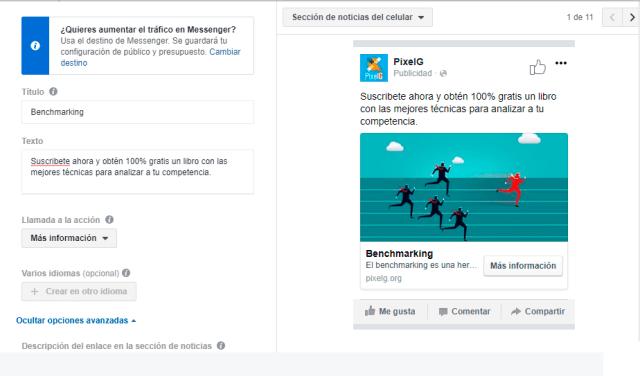 Anuncio de Facebook Creado