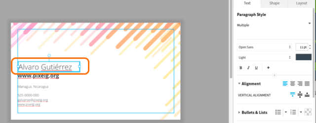 Lucidpress-Tarjetas de presentación