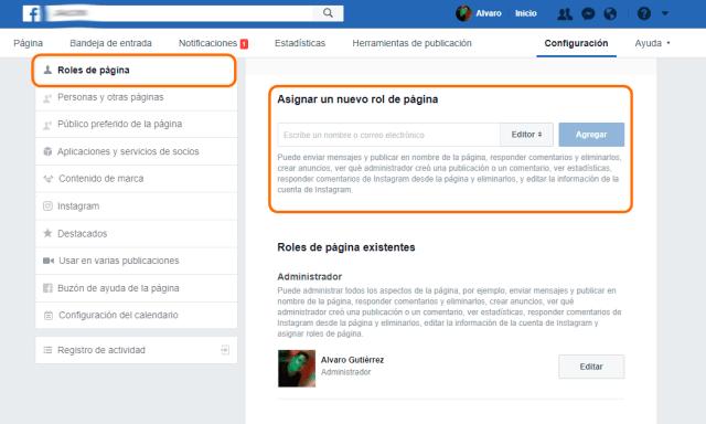 Gestiona los administradores en Facebook