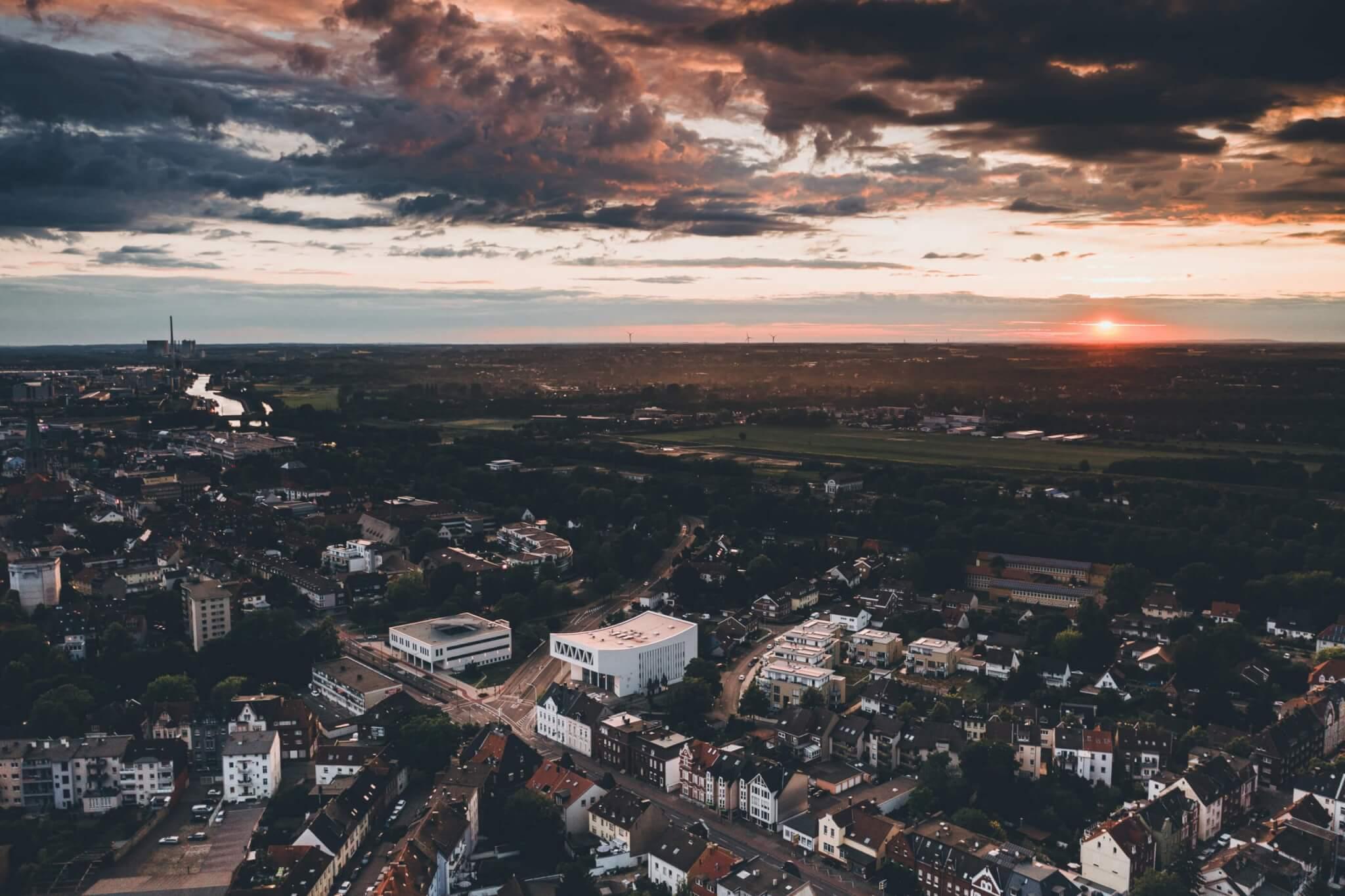 Sonnenuntergang über Hamm