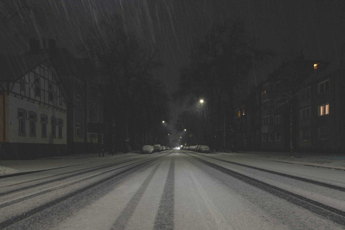Ein nächtlicher Schneespaziergang