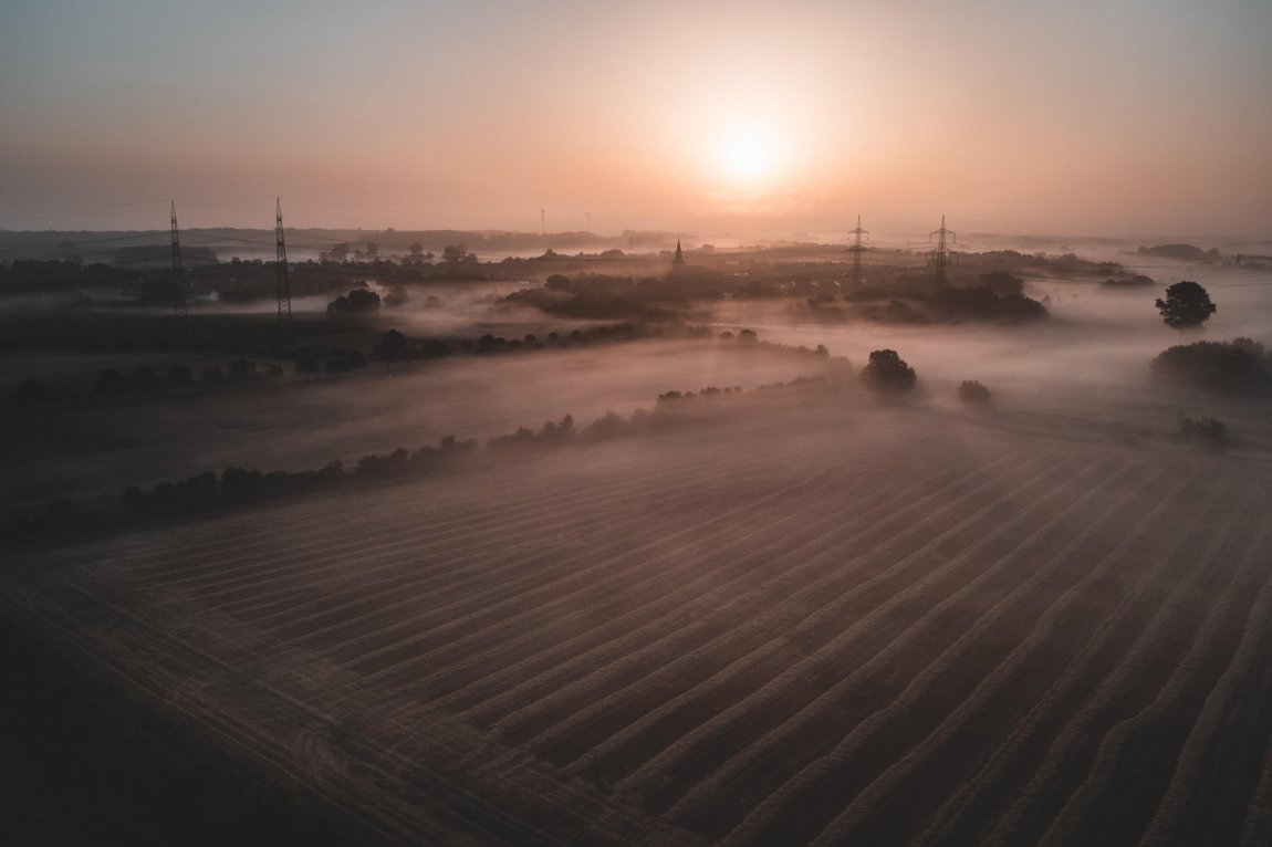 Nebel über den Feldern Hamms