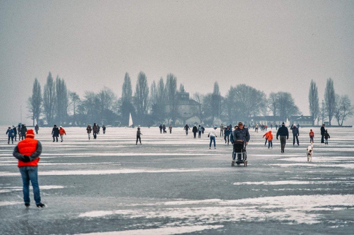 Von früher: Schlittschuhlaufen im Winter 1988