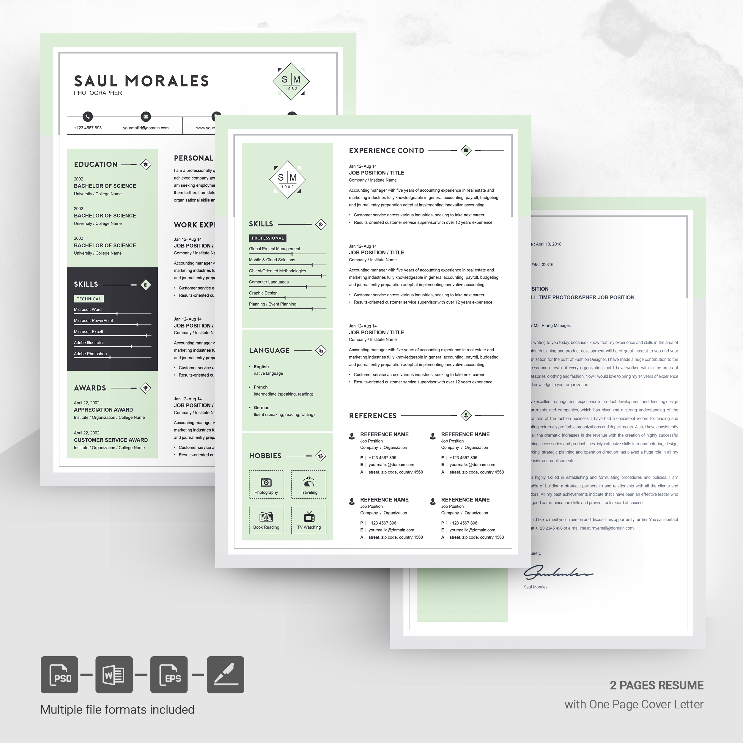 Download free two pages resume template for your next job interview. Resume Template 3 Page Cv Template Free Resumes Templates Pixelify Net