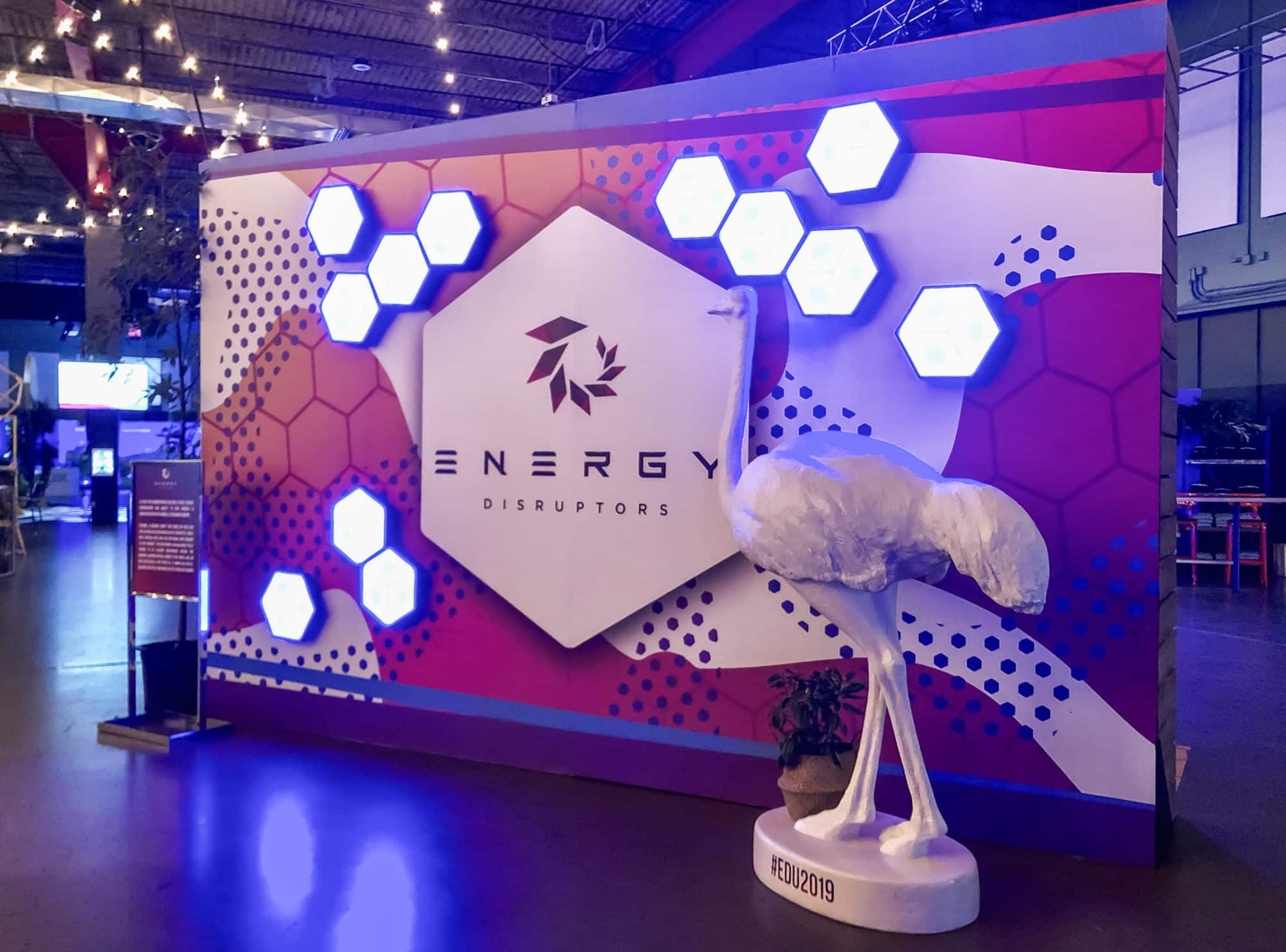 Custom-printed vinyl wall decals and wraps at a tradeshow event booth