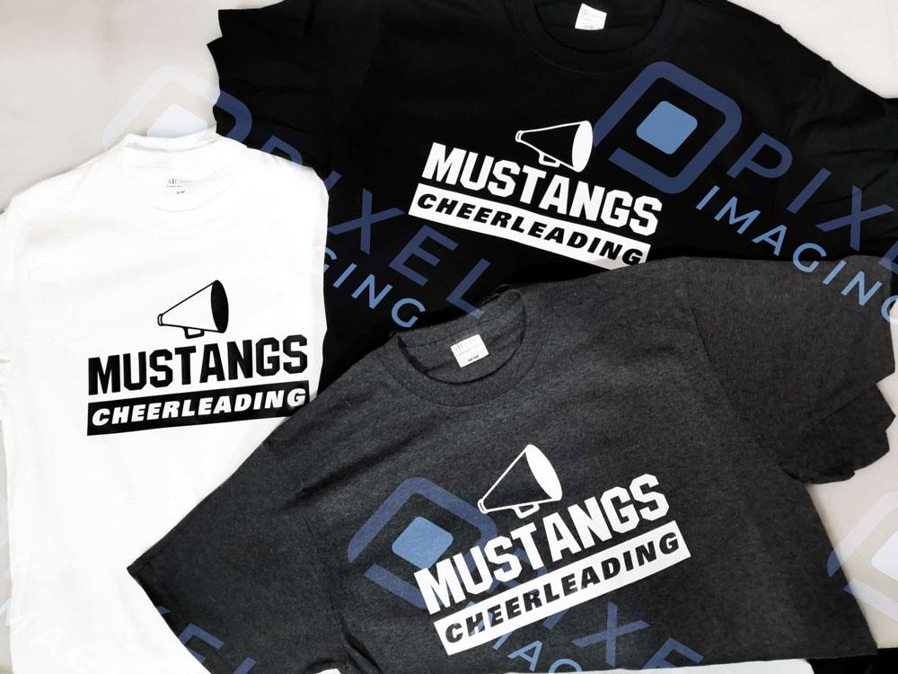 Custom-printed T-shirts for a Calgary high school.