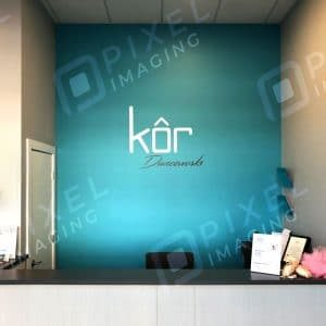 Wall Decals & Graphics Calgary: A newly installed wall graphic at a Calgary business.