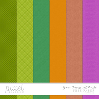 Freebie || Green, Orange and Purple