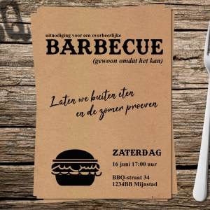 Uitnodiging Barbecue