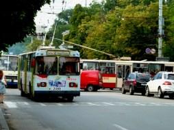 Local transport in Chisinau, Moldova. 2012.