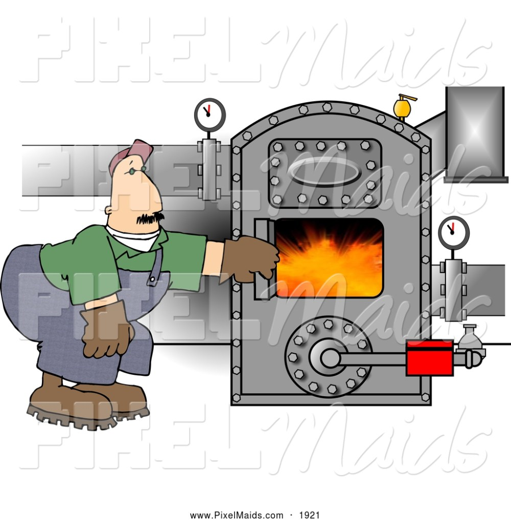 medium resolution of clipart of a caucasian man working on a hot boiler with valves