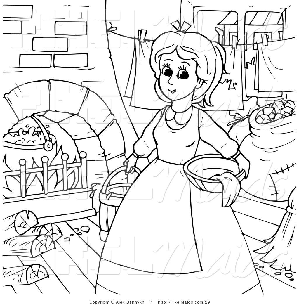 Royalty Free Outline Stock Maid Designs