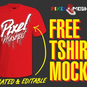 free, editable, vector, mockup, shirt, tshirt, tee, apparel, vector, adobe, illustrator, cfreative cloud