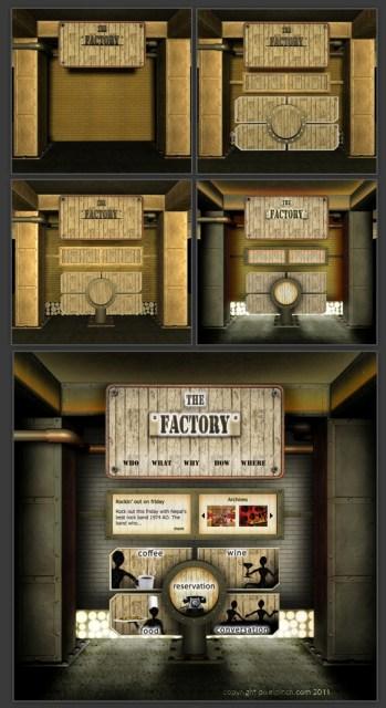 Factory 3D Render