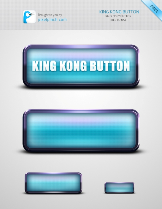 King Kong Huge Web Button