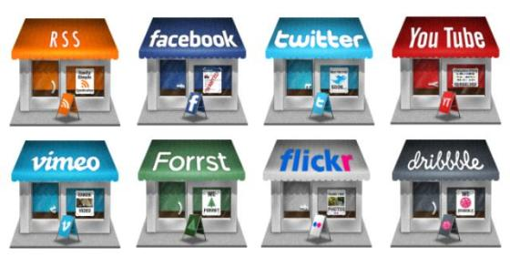 Social Store Social media icons