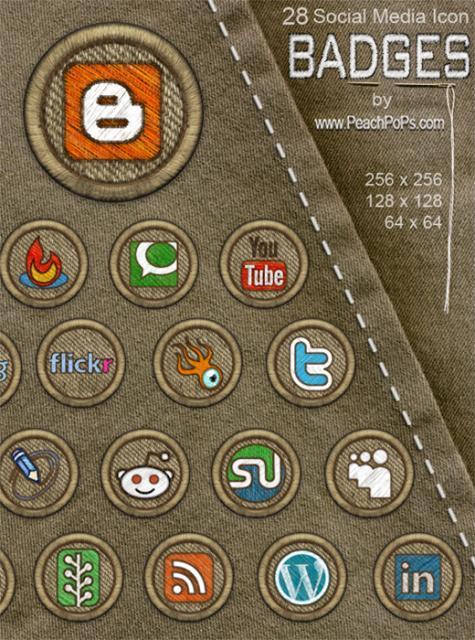 Social media badges