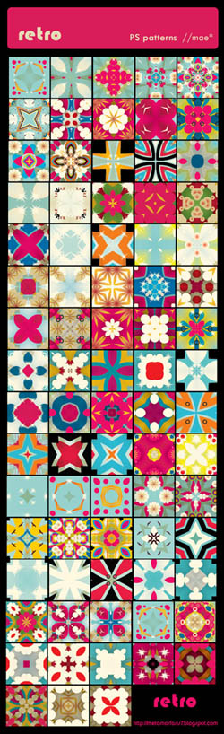 retro PS patterns by ~mae-b