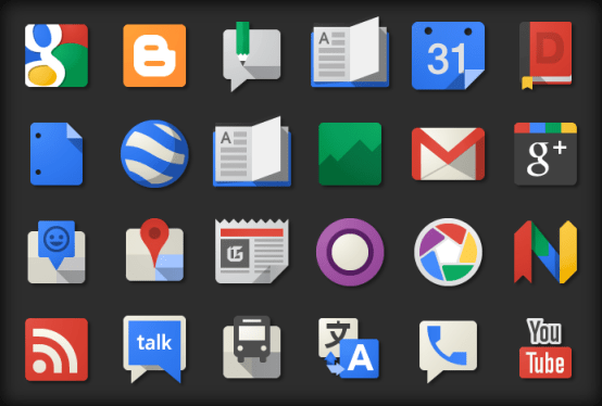 The new google Product Icons