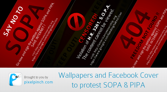 Wallpapers and Facebook Cover to protest SOPA PIPA
