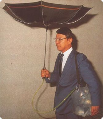 chindogu best inventions unuseless umbrella water collection