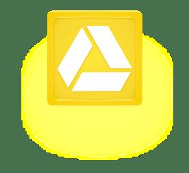 Google Drive Yellow Glow