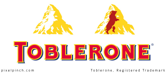 toblerone logo negative space
