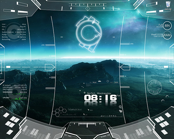 space_craft rainmeter