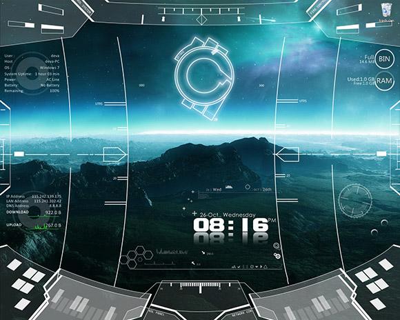 space_craft rainmeter