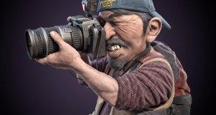 Photographer cartoon caricature