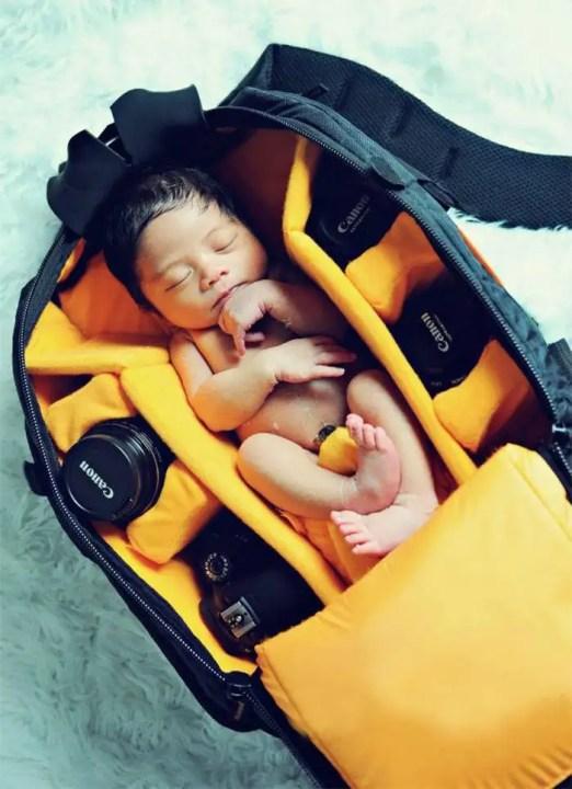 Babies Sleeping In Camera Bags