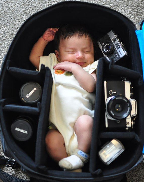 photographer baby in bag (3)