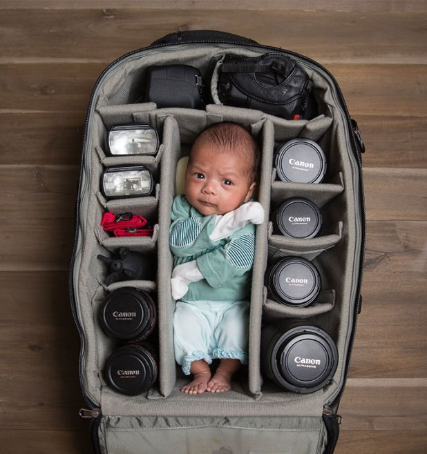 photographer baby in bag (6)