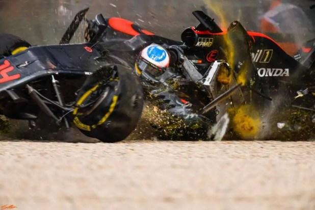 Nikon D5 F1 crash samples