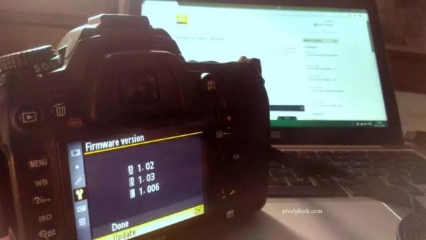 Firmware Update on Nikon DSLR