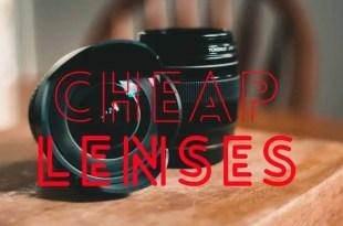 cheapest camera lenses