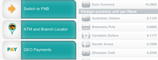 Geo payments from FNB