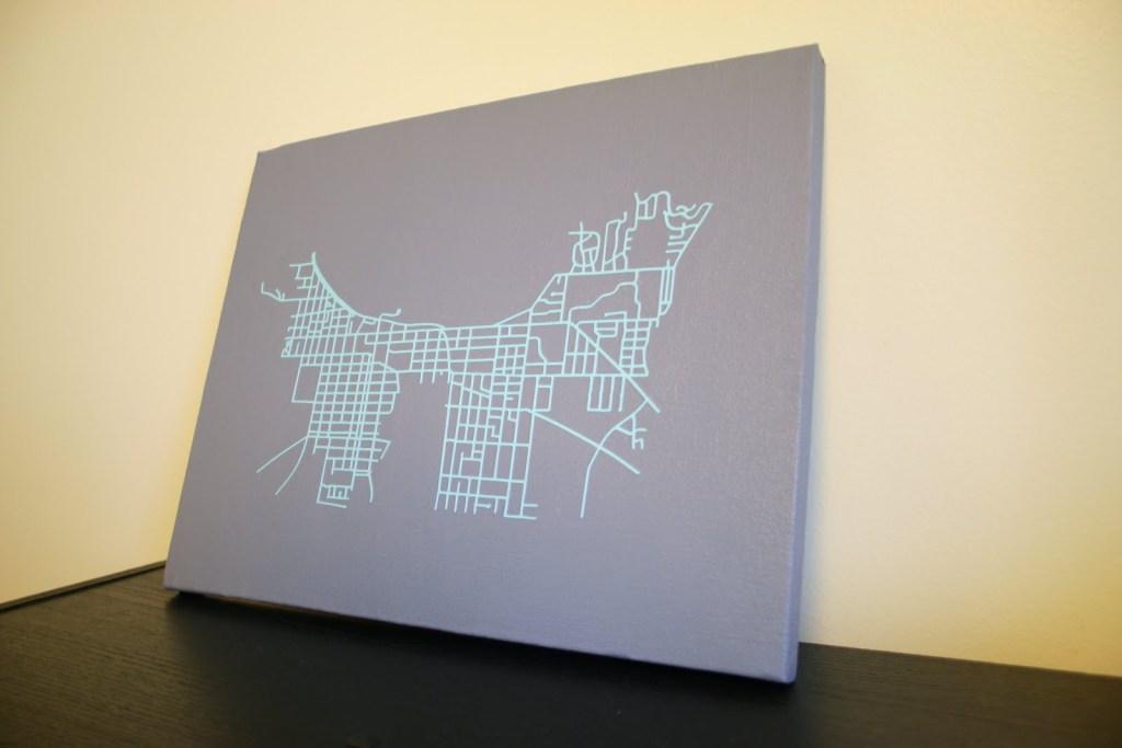 Traverse City street map art