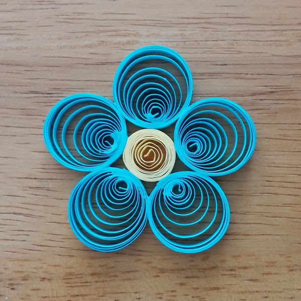 blue quilled flower