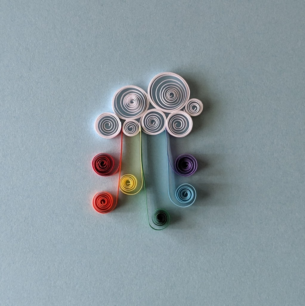 quilled rainbow cloud
