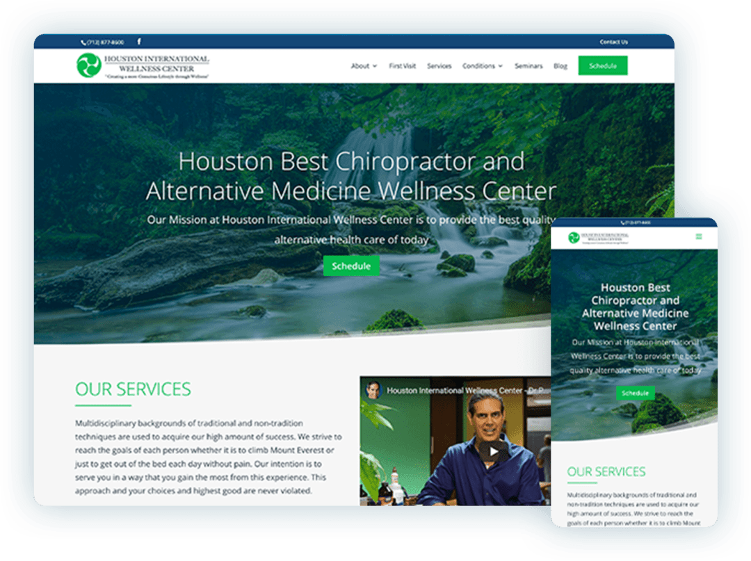 Health and Wellness Chiropractor Website