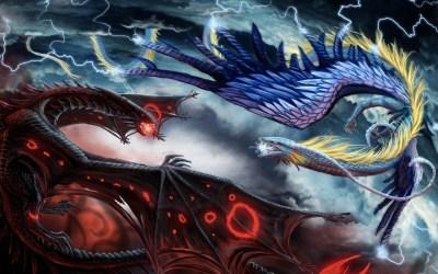 dragon ice hd fire backgrounds wallpapers dragons vs naga api gambar fantasy battle pixelstalk air nagi merah