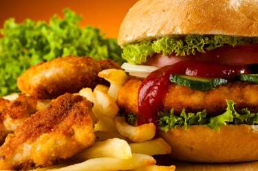 Wallpaper Fast Food Background