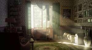 interior window retro wallpapers warm sun sunlight rays render walls decorating june dog