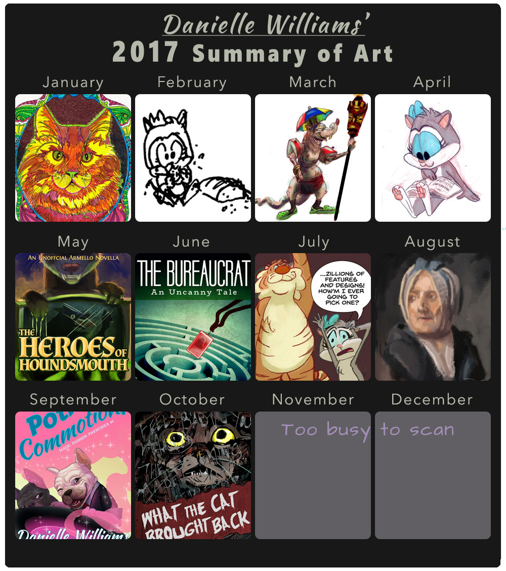 Thumbnail grid of my favorite artworks of this year