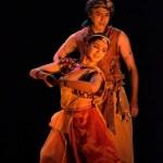 Vaibhav Arekar as Arjun and Sanjukta Wagh as illusory form of Chitra