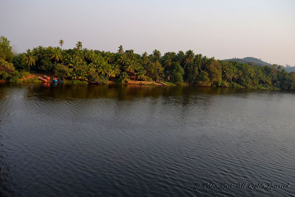 Karli River seen from the bridge to Tarkarli
