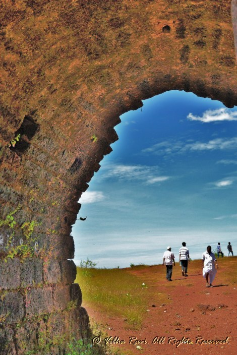 Through the other side Chapora Fort Goa