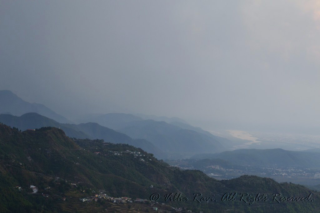 The hills in Mussoorie